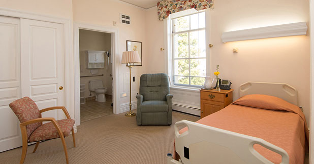Arden Wood Christian Science nursing facility private room