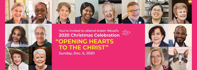 arden Wood 2020 Christmas Celebration banner